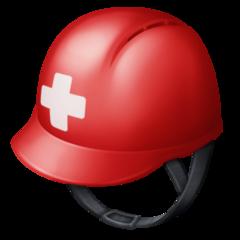 Helmet With White Cross facebook emoji