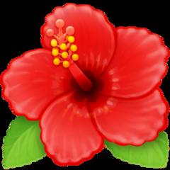 Hibiscus facebook emoji