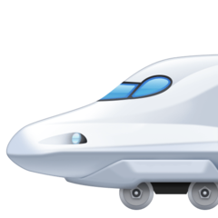 High-speed Train With Bullet Nose facebook emoji