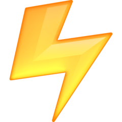 High Voltage Sign facebook emoji