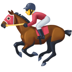 Horse Racing facebook emoji