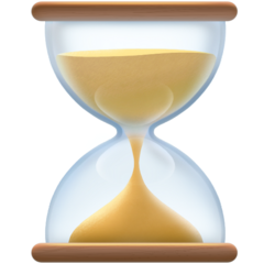 Hourglass With Flowing Sand facebook emoji