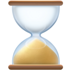 Hourglass facebook emoji
