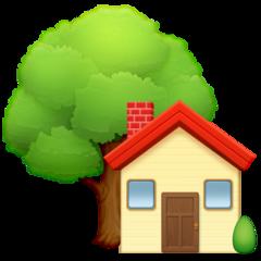 House With Garden facebook emoji