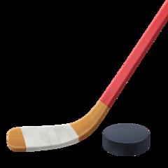 Ice Hockey Stick And Puck facebook emoji