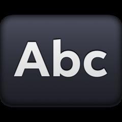 Input Symbol For Latin Letters facebook emoji