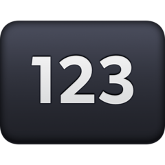 Input Symbol For Numbers facebook emoji