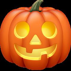 Jack-o-lantern facebook emoji