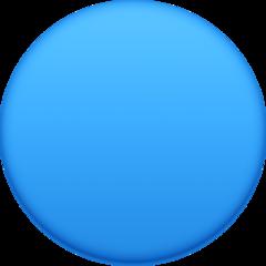 Large Blue Circle facebook emoji