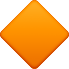 Large Orange Diamond facebook emoji