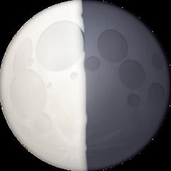 Last Quarter Moon Symbol facebook emoji