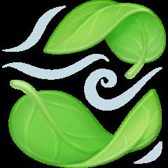 Leaf Fluttering In Wind facebook emoji