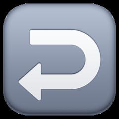 Leftwards Arrow With Hook facebook emoji