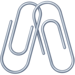 Linked Paperclips facebook emoji