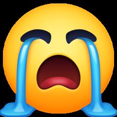 Loudly Crying Face facebook emoji