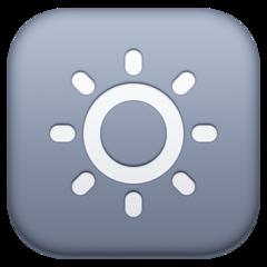 Low Brightness Symbol facebook emoji