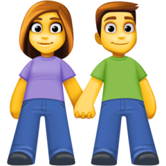 Man And Woman Holding Hands facebook emoji