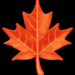 Maple Leaf facebook emoji