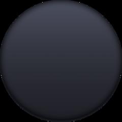 Medium Black Circle facebook emoji