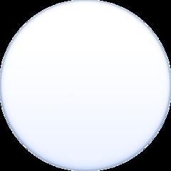 Medium White Circle facebook emoji