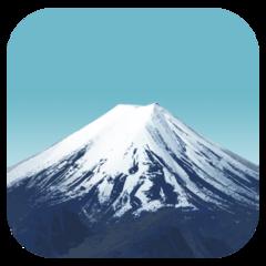 Mount Fuji facebook emoji
