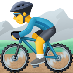 Mountain Bicyclist facebook emoji