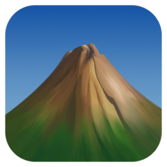Mountain facebook emoji