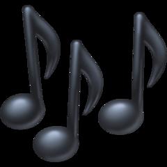 Multiple Musical Notes facebook emoji
