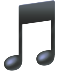 Musical Note facebook emoji