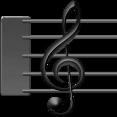 Musical Score facebook emoji