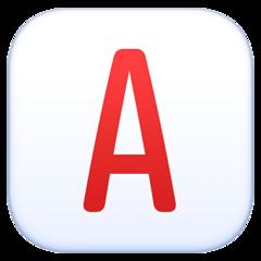 Negative Squared Latin Capital Letter A facebook emoji