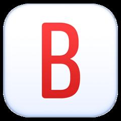 Negative Squared Latin Capital Letter B facebook emoji