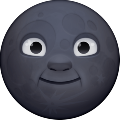 New Moon With Face facebook emoji
