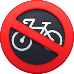 No Bicycles facebook emoji