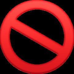No Entry Sign facebook emoji
