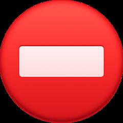 No Entry facebook emoji