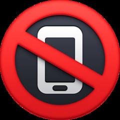 No Mobile Phones facebook emoji