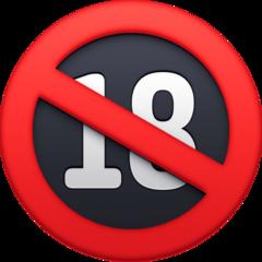 No One Under Eighteen Symbol facebook emoji