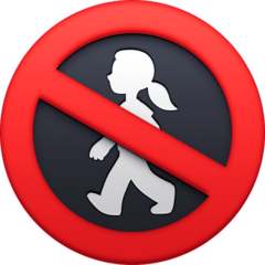 No Pedestrians facebook emoji