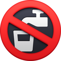 Non-potable Water Symbol facebook emoji