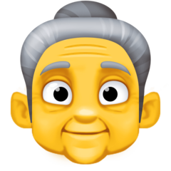 Older Woman facebook emoji