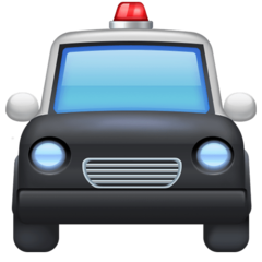 Oncoming Police Car facebook emoji