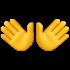 Open Hands Sign facebook emoji