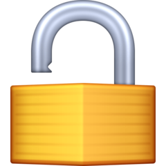 Open Lock facebook emoji