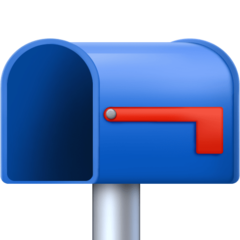 Open Mailbox With Lowered Flag facebook emoji