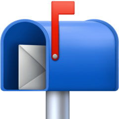 Open Mailbox With Raised Flag facebook emoji