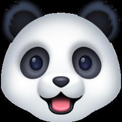 Panda Face facebook emoji