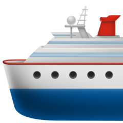 Passenger Ship facebook emoji