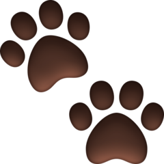 Paw Prints facebook emoji