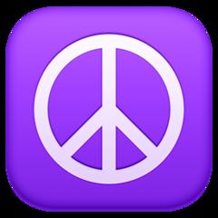 Peace Symbol facebook emoji